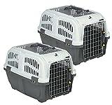 Petgard, scatola per il trasporto di cani e gatti, confezione risparmio da 2 pezzi, con giocattolo per gatti