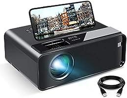 Vidéoprojecteur, ELEPHAS Rétroprojecteur Full HD Projecteur 7500 Lumens Soutien 1080P LED Compatible VGA HDMI AV USB...