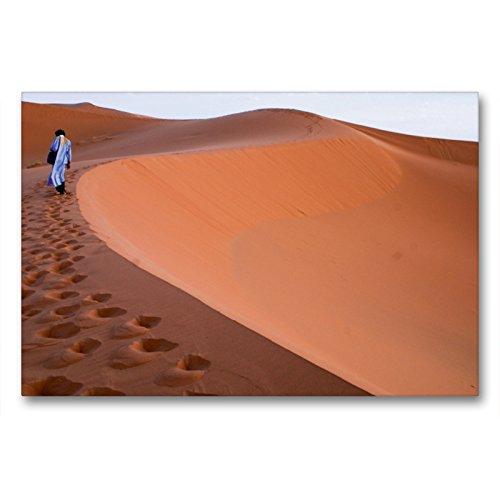 Premium - Lienzo de tela (90 cm x 60 cm, horizontal), diseño de calvido en el Sáhara Occidental y Marruecos, cuadro sobre bastidor