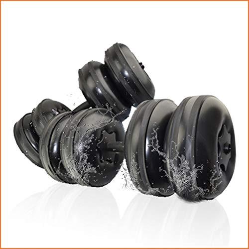 Reise-Hanteln Verstellbare wasserfüllbare Hanteln Set für Männer Tragbare Trainingsgeräte Perfektes Fitness-Geschenk für die Familie - Schwarz