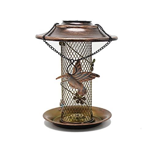 Alimentador De Aves Al Aire Libre, Alimentador De Aves Colgantes, Alimentador De Colibrí, Alimentador De Pájaros De Jardín, Puede Ser Utilizado Como Luz LED Solar, Adecuado Para Jardín Al Aire Libre D