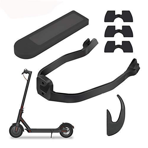Tinke Paquete de accesorios para scooter eléctrico Juego de traje Gancho, soporte de guardabarros, junta antivibraciones, cubierta de protección de energía compatible para Xiaomi Mijia M365 M365 / Pro