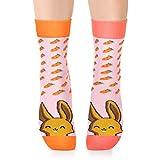 Petsy - Calcetines Divertidos y Geniales para Mujeres, Hombres y Niños, Máxima Comodidad y Suavidad. Hecho por Amantes de los Animales (Carrot Rabbit, M - (EU 39-42))