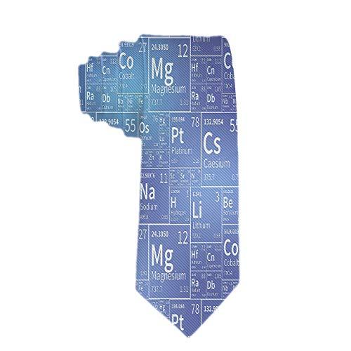 Corbata de seda clásica tejida para hombres Corbata de seda Elementos químicos de la tabla periódica Iconos blancos Corbatas