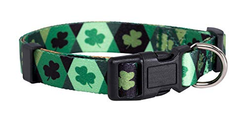 Native Pup St. Patrick's Day Dog Collars (Large, Argyle)
