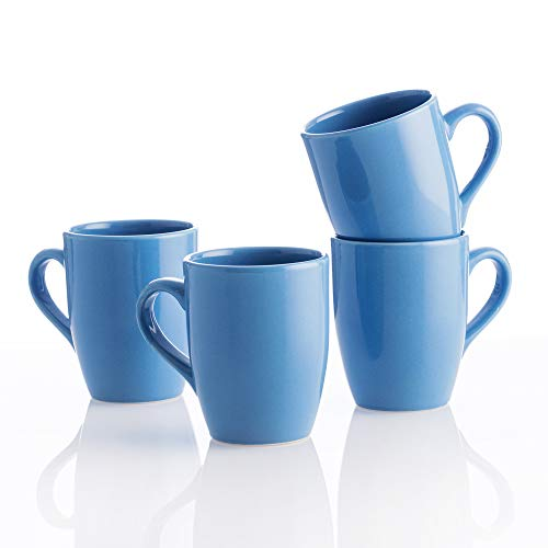 UNITED COLORS OF BENETTON. BE061 Set 4pcs tazas 11cm 360ml loza azul Casa Benetton, Gres