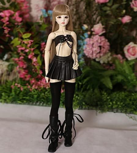 NIHE Financial sales sale 1 Charlotte Mall 3 Ball Joint Doll Wig Up BJD Body Dol Dress