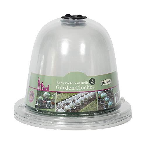 Haxnicks Baby Bell Jar Cloches mit bodenpflöcken (Pack von 3)