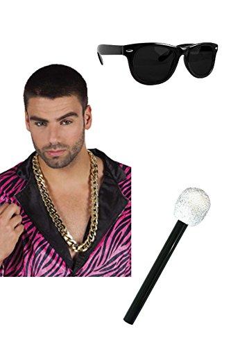 Marco Porta Juego de accesorios para disfraz de rapero.