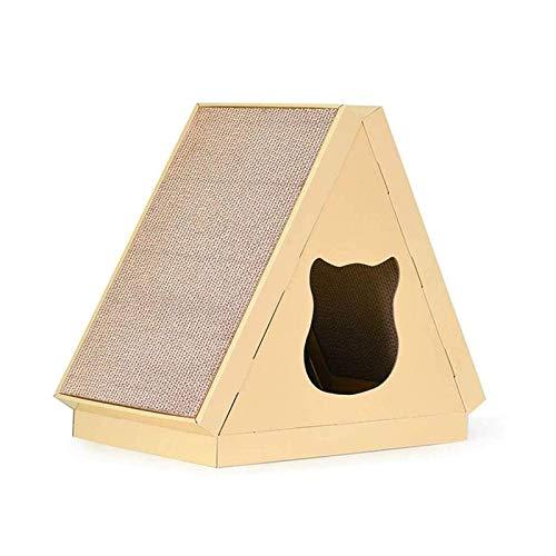 Cat Scratcher Cardboard, 2-in-1-Scratching-Bett, Cat Training Toy für große Katzen und Kätzchen, Möbelschutz, langlebig