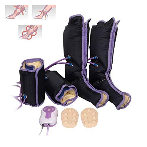 Massaggiatore a compressione ad aria per gambe, con stimolatore elettronico della circolazione per terapia caviglia e polpaccio.