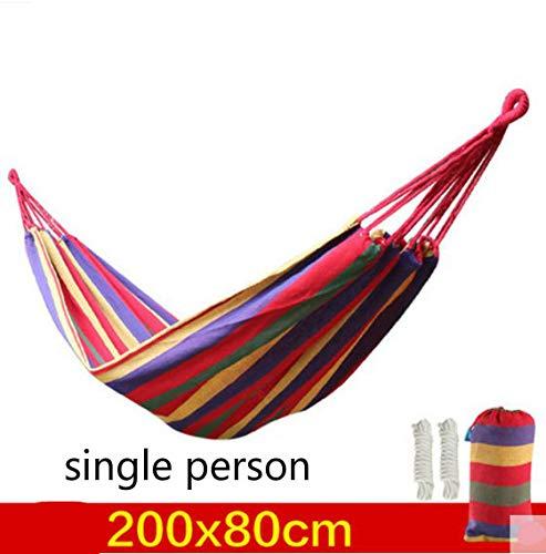 HCCX Outdoor reizen essentiële dubbele canvas hangmat verdikking outdoor camping indoor recreatieve schommel hangmat touw super lager
