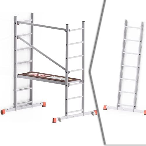 Altec AluCombine® 300 | Alu Leiterngerüst | 3m Arbeitshöhe, 2 in 1 Gerüst & Leiter | Made in Germany | EN 131 | Gerüst | Arbeitsgerüst | Baugerüst | Arbeitsbühne | Fahrgerüst | Anlegeleiter