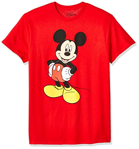 Disney Herren Classic Mickey Mouse Full Size Graphic Short Sleeve T-Shirt, rot, Groß