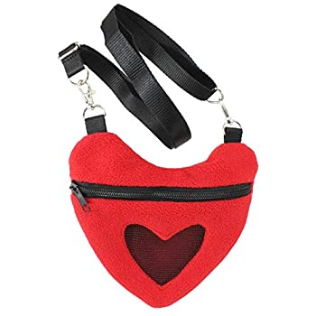 Exotic Nutrition Heart Carry Bonding Pouch - Fleece Nest Pouch for - Sugar Gliders Marmosets Rats Hamsters Flying Squirrels Ferrets Birds Chinchillas Parrots Gerbils & Other Small Pets