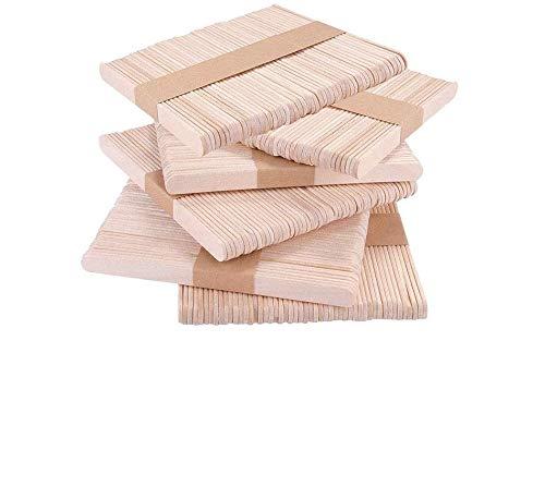 DECARETA 300 Palos Palitos de Madera para Manualidades Palitos de Madera Helado Natural Palitos de madera Hecho en Casa DIY Palitos de Artesanía (11.4 x 1.0 CM)
