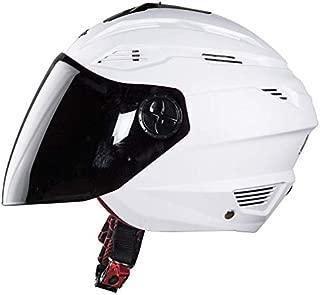 Steelbird Air SBA-6 Fuze Dashing Open Face Helmet with Smoke Visor (White, L)