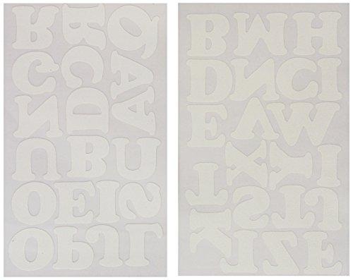 Dritz Tissu Doux Troupeau Lettres thermocollant Cooper-White 3,8 cm