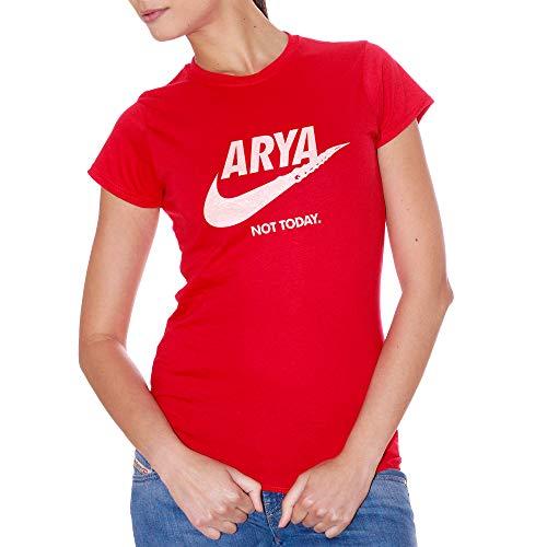 T-Shirt Arya Stark Got Game of Thrones Not Today Logo - Film Choose ur Color - Mujer-S-Rojo