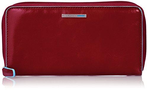Piquadro PD3229B2/R Blue Square Portafoglio, Rosso, 18 cm