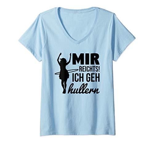 Damen Mir reichts Ich geh hullern T-Shirt mit V-Ausschnitt