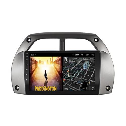 ACCZ GPS Coche, Localizador GPS para Coche, GPS Coche Localizador Coche Compatible con Toyota RAV4 01-06, Advertencia De Velocidad, Indicaciones Habladas Paso a Paso, 9 Pulgadas
