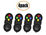 glacely 4 Pack Fidget Pad - 9 Fidget Features- Perfect for Skin Picking, ADD, ADHD, Anxiety and Stress Relief - Multi Color Rainbow on Black - Prime Ready and Shipped by Amazon