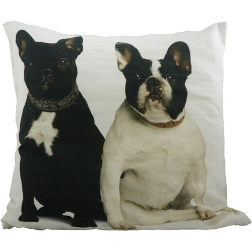Canvas cushion French bulldogs 50 x 50 cm