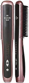 Secador de pelo y rizador de un paso Pelo eléctrica Blow cepillo caliente Styling cepillo de pelo Curling Styling Brush Perfecto for cabello mediano a largo y for el uso de secadores, se endereza suav