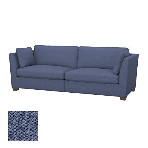 Soferia Bezug fur IKEA Stockholm 3,5er-Sofa, Stoff Nordic Denim