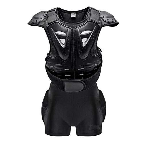ZY Kinder Körperschutzanzug, Brust Rücken Rückenprotektorenweste und Gesäß Shorts Body Guard Schutz Sport Körper Jacke Schutzpanzer