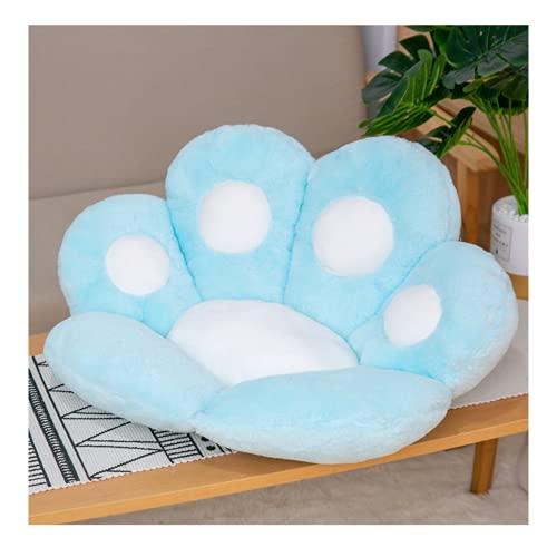 Cojín para silla con diseño de huella de gato, bonito y grande, para oficina, sofá, columpio (70 x 60 cm)