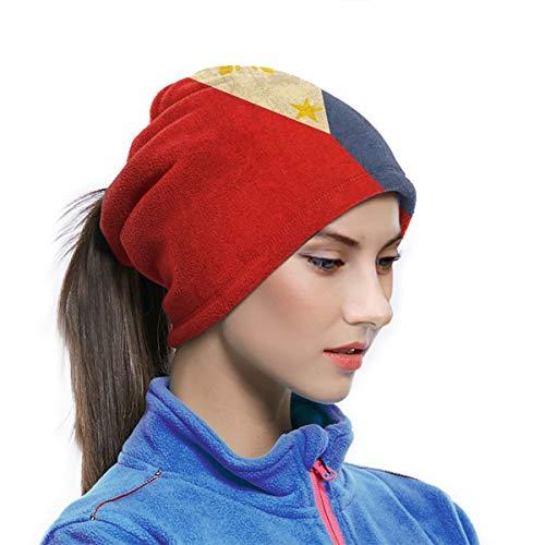 Máscara de forro polar suave para el cuello, para clima frío, deportes al aire libre, diseño retro de bandera de Filipinas