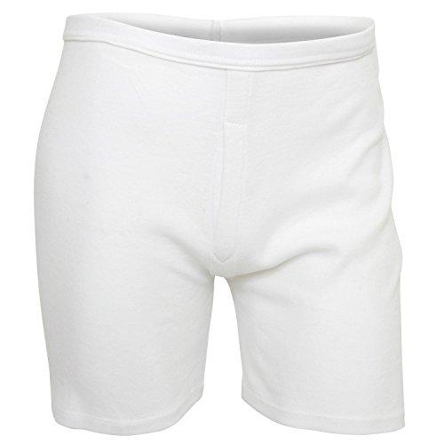 I-Smalls pour Homme Lot de 2 Confort Classique Essential Blanc Coton Boxers Slips Homme sous-vêtements - Blanc - Medium