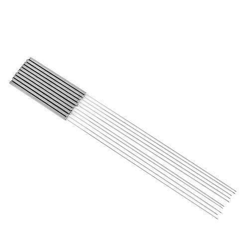 Tosuny 10 Stück 3D-Drucker Düsenreinigungs-Tool-Kit - 0,4 mm Nadeln - flexibel, wiederverwendbar, langlebig Kompatibel mit 3D-Druckerzubehör