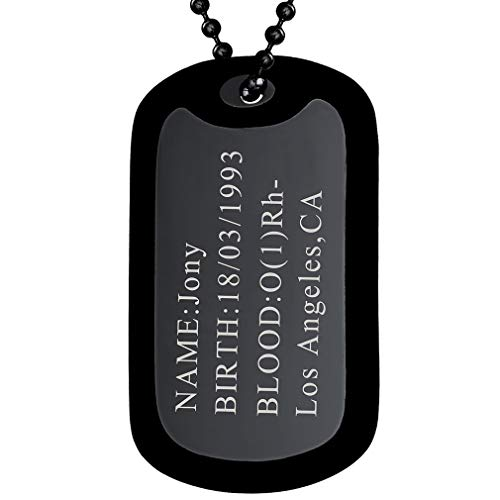 FaithHeart Herren Dog Tag Anhänger mit Gravur Silikon Militär Erkennungsmarken für Herren und Männer