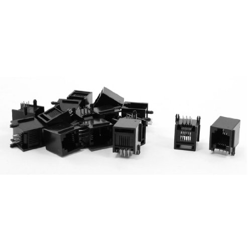 Sourcingmap® 15 Stücke RJ12 6P6C 15 x 12 x 14 mm Klinke Buchse ADSL Netzwerk de