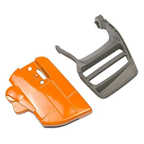 FLAMEER 1 Conjunto de la cubierta de la protección de la mano del embrague del freno para Husqvarna 340/345/350 motosierra piezas 537107801, fácil de instalar