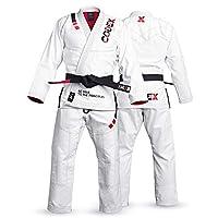 Codex Fight Gear BJJ Gi Brazilian Jiu Jitsu Kimono A3 PearlWeave Fabric Jiu Jitsu Uniforms White