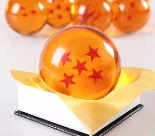 1:1 DBZ DragonBall Z Crystal Ball Durchmesser ca.7cm Dazzling 5-Star-Kristallkugel+eins Geschenk wie das zweite Foto