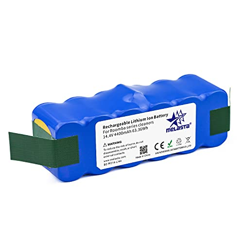 melasta 4400mAh Extended Life Lithium ion Battery Replacement for iRobot Roomba 500 600 700 800 Series 675 880 770 650 890 895 870 860 805 780 790 695 680 671 655 640 645 614 595 585 560 550