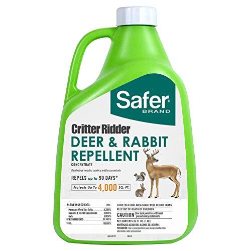 Safer Concentrate Brand 5972 Critter Ridder Deer & Rabbit Repellent – 32 oz