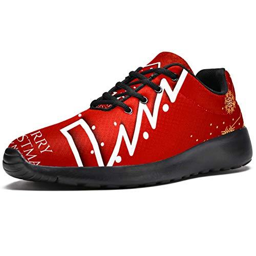 LORVIES Red Christmas Tree Zapatillas de Deporte para Hombres Casual Zapatillas de Deporte para Hombre, (multicolor), 46 EU