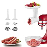 Food Grinder Attachment for Kitchenaid Stand Mixers, as Meat Mincer Accessory including Sausage...