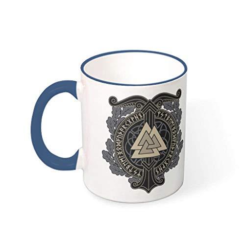 Twelve constellations Tazas de café de cerámica duraderas personalizadas divertidas – Taza de cerámica apta para exteriores para aniversario Midnight Blue 330 ml