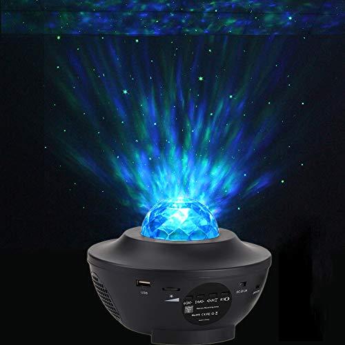 Poeland Green Star Lights and Ocean Wave LED-Nachtlicht Projektor mit Musik-Lautsprecher, Timer, Fernbedienung