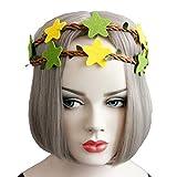 FAD Tocado Frente Diadema Rattan Star Headpiece Cinta Cinta elástica para el cabello Vacaciones de verano Sombreros Accesorios de fotografía para niñas