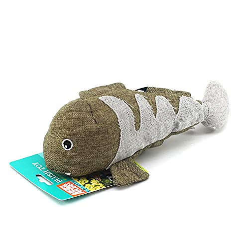 MMYY Juguete de peluche de tiburón ballena, juguete de ballena de lino, gato y perro sonajero papel sonando ballena juguete-Grass_green