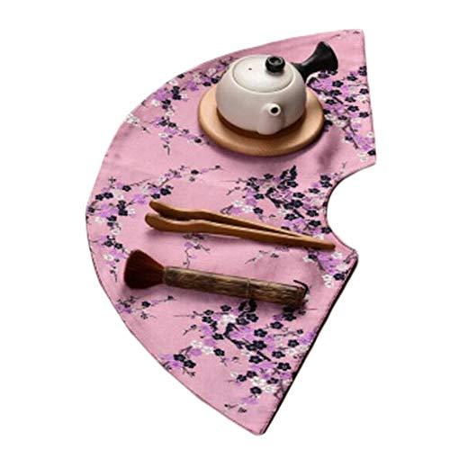 Wukong Paradise Nappe à thé Tapis à thé Broderie sous-Verres à thé Chemin de Table Accessoires de thé-A08