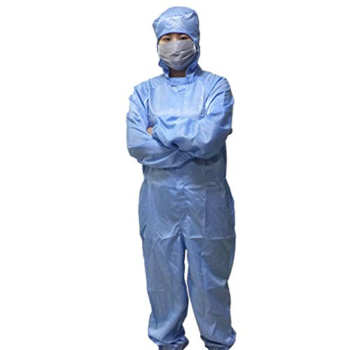 Disposable overalls, Beschermende Werkoveralls Hood antistatisch Overalls Werkkleding, Multi-Purpose Beschermende Overall Beschermende kleding,XL